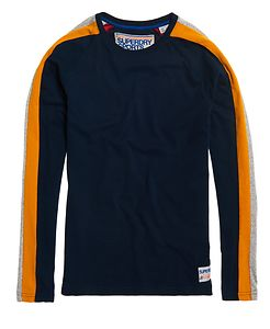 SUPERDRY TROPHY SLEEVE BAND L/S TEE
