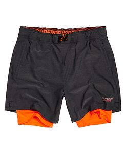 SUPERDRY SPORT ATHLETIC STRETCH DOUBLE LAYER SHORTS